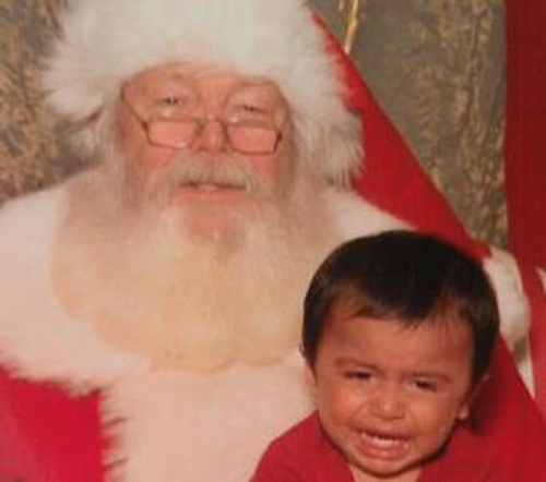 "<div class=""meta ""><span class=""caption-text "">ABC7 viewer Lisa Rico Bowker posted this photo to the ABC7 Facebook wall of her son Adam with Santa.  Post your own photo, and don't forget to tag yourself. Your photo may be used on Eyewitness News! (KABC Photo/ ABC7 viewer Lisa Rico Bowker)</span></div>"