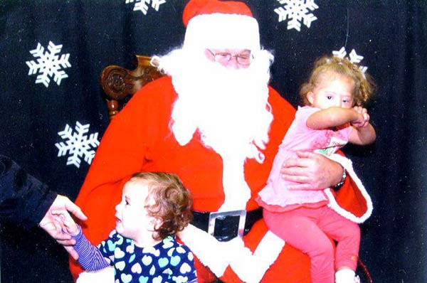 "<div class=""meta ""><span class=""caption-text "">ABC7 viewer Sue Davis posted this photo to the ABC7 Facebook wall of Nyla and Lexi's visit with Santa.  Post your own photo, and don't forget to tag yourself. Your photo may be used on Eyewitness News! (KABC Photo/ ABC7 viewer Sue Davis)</span></div>"