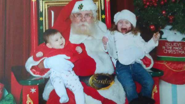 "<div class=""meta ""><span class=""caption-text "">ABC7 viewer Christina Sayegh posted this photo to the ABC7 Facebook wall of his daughter Madeline with Santa.  Post your own photo, and don't forget to tag yourself. Your photo may be used on Eyewitness News! (KABC Photo/ ABC7 viewer Christina Sayegh)</span></div>"