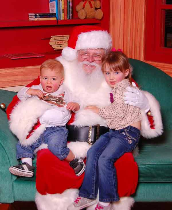"<div class=""meta ""><span class=""caption-text "">ABC7 viewer Traci Kinon Toal posted this photo to the ABC7 Facebook wall of his daughter Madeline with Santa.  Post your own photo, and don't forget to tag yourself. Your photo may be used on Eyewitness News! (KABC Photo/ ABC7 viewer Traci Kinon Toal)</span></div>"