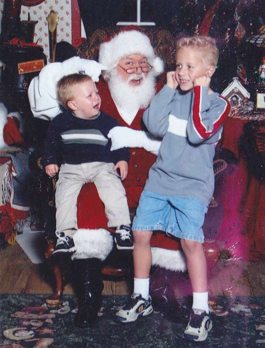 ABC7 viewer Tricia Haydock Gagna posted this photo to the ABC7 Facebook wall of her two sons with Santa.  Post your own photo, and don&#39;t forget to tag yourself. Your photo may be used on Eyewitness News!  <span class=meta>(KABC Photo&#47; ABC7 viewer Tricia Haydock Gagna)</span>