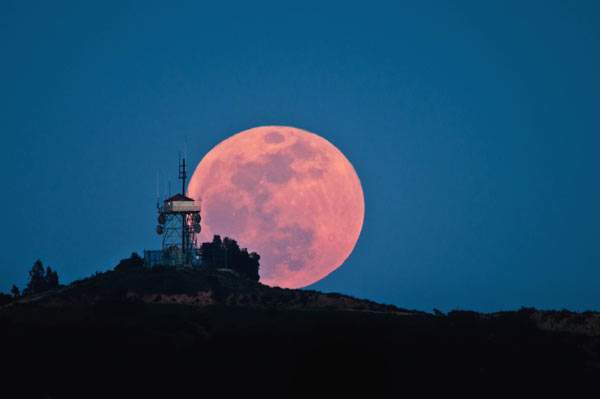 ABC7 viewer Byron Bauer of Glendale sent in this photo of the full moon perched behind the San Rafael Hills radio tower on Saturday, May 5, 2012. When You Witness breaking news, or even something extraordinary, send pictures and video to video@abc7.com, or post them to the ABC7 Facebook page or to @abc7 on Twitter  <span class=meta>(ABC7 viewer Byron Bauer)</span>