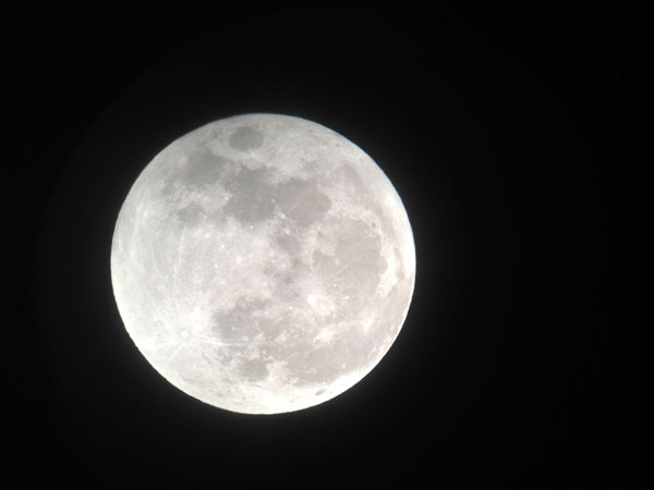 ABC7 viewer Gary sent in this photo of the full moon on Saturday, May 5, 2012. When You Witness breaking news, or even something extraordinary, send pictures and video to video@abc7.com, or post them to the ABC7 Facebook page or to @abc7 on Twitter    <span class=meta>(ABC7 viewer Gary)</span>