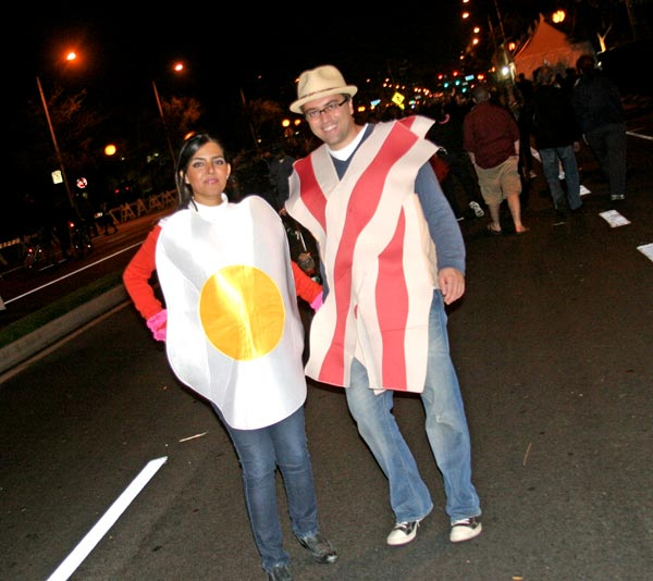 Breakfast theme at the West Hollywood Halloween Costume Carnaval in West Hollywood on Wednesday, Oct. 31, 2012. <span class=meta>(ABC7)</span>