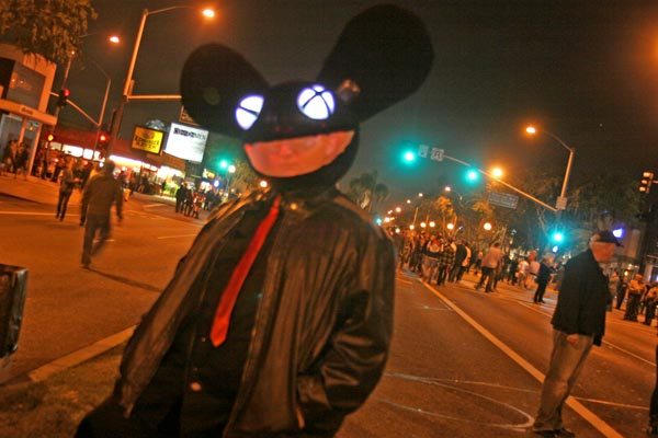 A Deadmau5 costume at the West Hollywood Halloween Costume Carnaval in West Hollywood on Wednesday, Oct. 31, 2012. <span class=meta>(ABC7)</span>