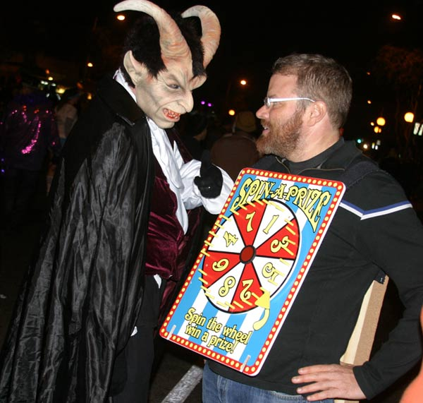 Revelers at the West Hollywood Halloween Costume Carnaval in West Hollywood on Wednesday, Oct. 31, 2012. <span class=meta>(ABC7)</span>
