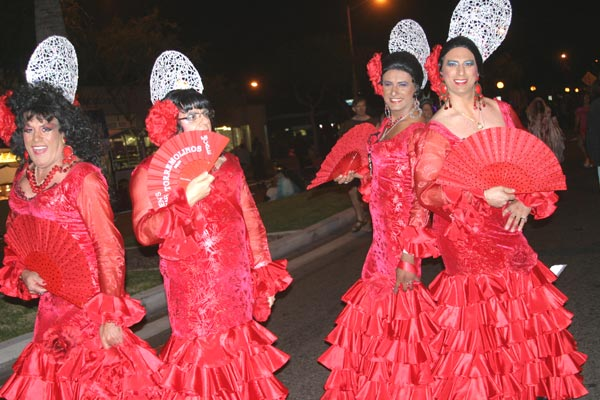 Revelers in flamenco theme at the West Hollywood Halloween Costume Carnaval in West Hollywood on Wednesday, Oct. 31, 2012.