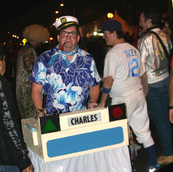 A reveler as a game show contestant at the West Hollywood Halloween Costume Carnaval in West Hollywood on Wednesday, Oct. 31, 2012. <span class=meta>(ABC7)</span>