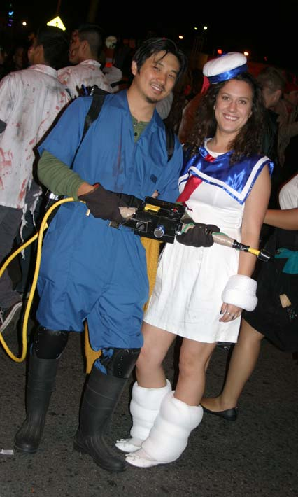 Revelers in &#39;Ghostbusters&#39; theme at the West Hollywood Halloween Costume Carnaval in West Hollywood on Wednesday, Oct. 31, 2012. <span class=meta>(ABC7)</span>