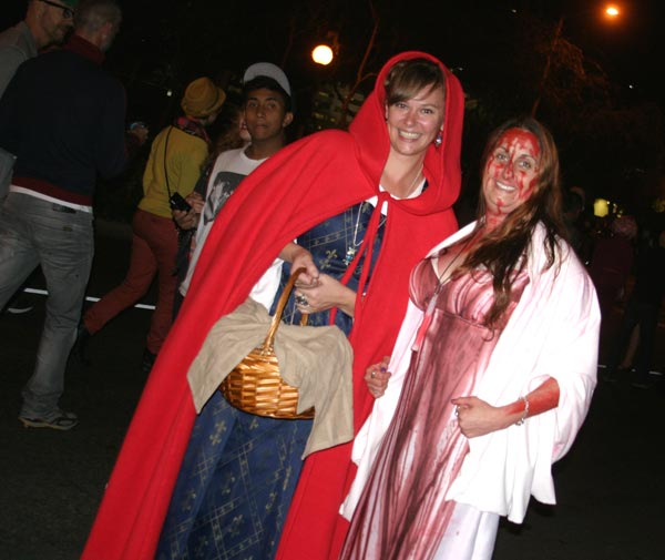 Revelers dressed at the West Hollywood Halloween...