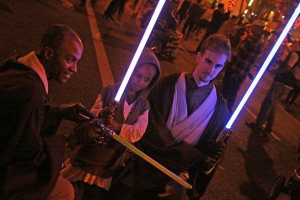 "<div class=""meta ""><span class=""caption-text "">Jedi Knights at the West Hollywood Halloween Costume Carnaval in West Hollywood on Wednesday, Oct. 31, 2012.  (ABC7)</span></div>"