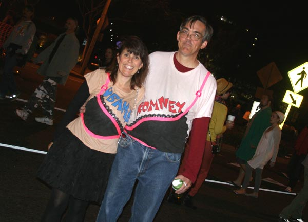Presidential politics theme at the West Hollywood Halloween Costume Carnaval in West Hollywood on Wednesday, Oct. 31, 2012. <span class=meta>(ABC7)</span>