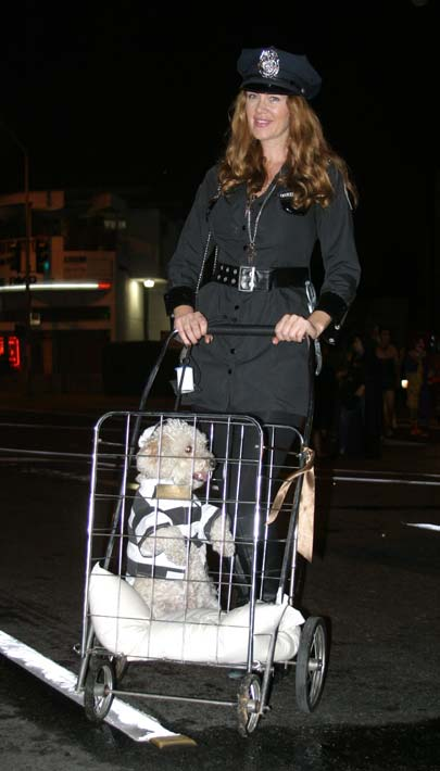 A reveler and her pet at the West Hollywood Halloween Costume Carnaval in West Hollywood on Wednesday, Oct. 31, 2012. <span class=meta>(ABC7)</span>