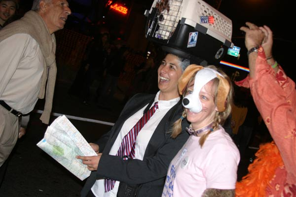 A presidential politics theme at the West Hollywood Halloween Costume Carnaval in West Hollywood on Wednesday, Oct. 31, 2012. <span class=meta>(ABC7)</span>