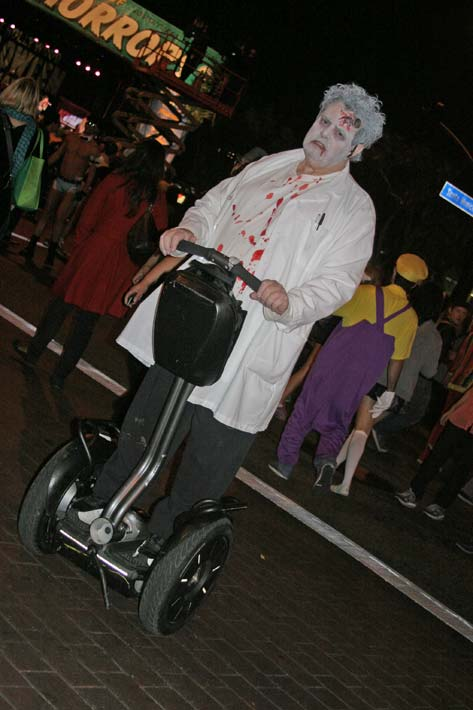A reveler on a Segway at the West Hollywood Halloween Costume Carnaval in West Hollywood on Wednesday, Oct. 31, 2012. <span class=meta>(ABC7)</span>
