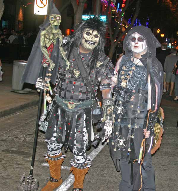 Revelers at the West Hollywood Halloween Costume Carnaval in West Hollywood on Wednesday, Oct. 31, 2012.