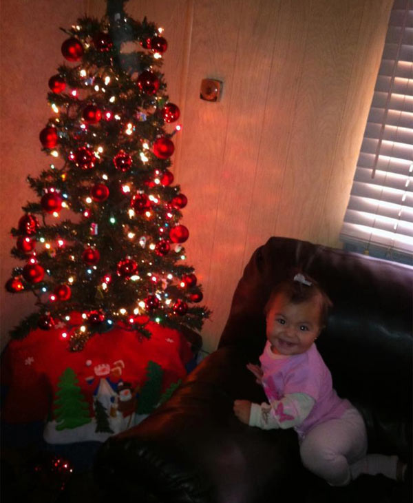 ABC7 viewer Janeth Correa sent us this photo of Melanie&#39;s first Christmas. &#160;Share your holiday pictures with us on our ABC7 Facebook page.  <span class=meta>(ABC7 viewer Janeth Correa)</span>