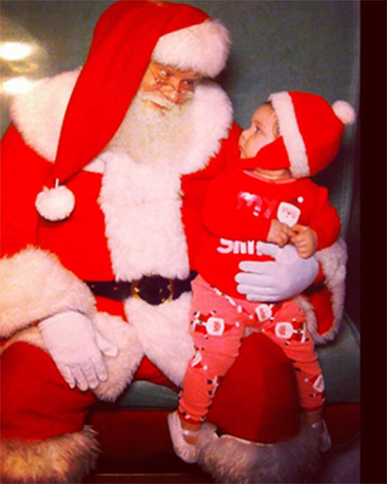 Aliya Marie and Santa. &#160;Post your holiday pictures on our ABC7 Facebook page <span class=meta>(ABC7 viewer Jennie Marie.)</span>