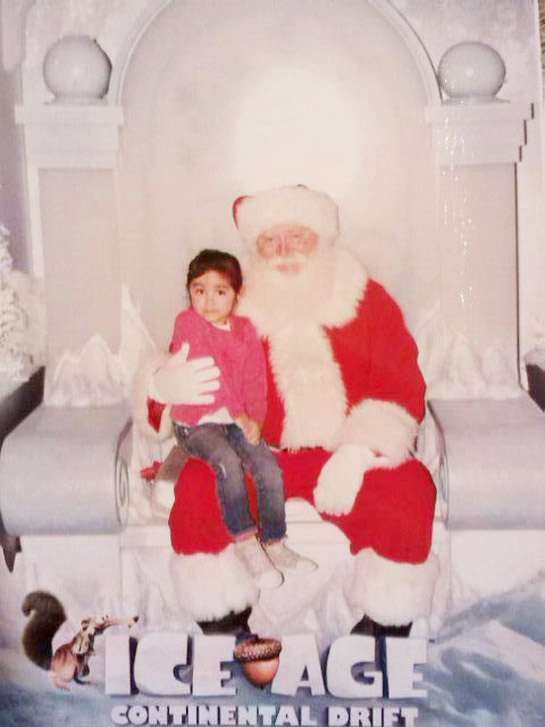 "<div class=""meta image-caption""><div class=""origin-logo origin-image ""><span></span></div><span class=""caption-text"">Beronica Martinez posted this picture of her niece Valeria with Santa.  Post your holiday pictures on our ABC7 Facebook page. (ABC7 viewer Beronica Martinez)</span></div>"