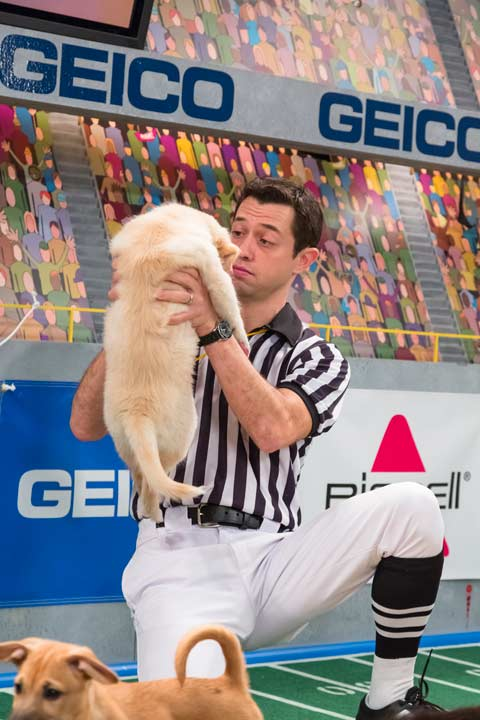 A referee makes a call on the field during Animal Planet&#39;s Puppy Bowl IX, airing Sunday, Feb. 3, 2013. <span class=meta>(Courtesy of Animal Planet)</span>