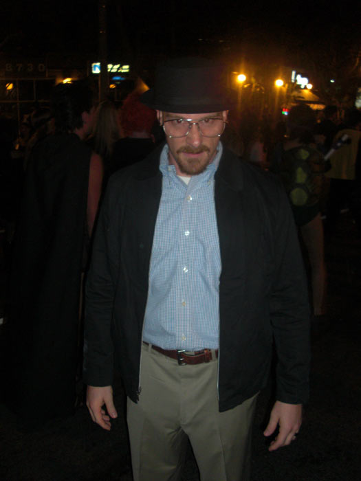 Barrett Garese dressed up as Walter White from 'Breaking Bad' during the West Hollywood Halloween Costume Carnaval on Thursday, Oct. 31, 2013.