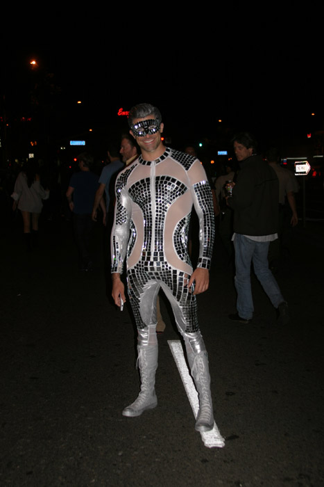 "<div class=""meta ""><span class=""caption-text "">Adam Zelasko dressed as a disco ball during the West Hollywood Halloween Costume Carnaval on Thursday, Oct. 31, 2013. (ABC7)</span></div>"