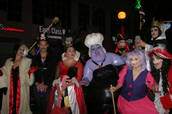 "<div class=""meta ""><span class=""caption-text "">A group of people dressed up as Disney villains during the West Hollywood Halloween Costume Carnaval on Thursday, Oct. 31, 2013. (ABC7)</span></div>"