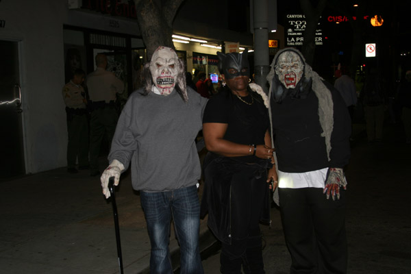 "<div class=""meta ""><span class=""caption-text "">Tyrone, Desiree and Cameron pose for a photo during the West Hollywood Halloween Costume Carnaval on Thursday, Oct. 31, 2013. (ABC7)</span></div>"