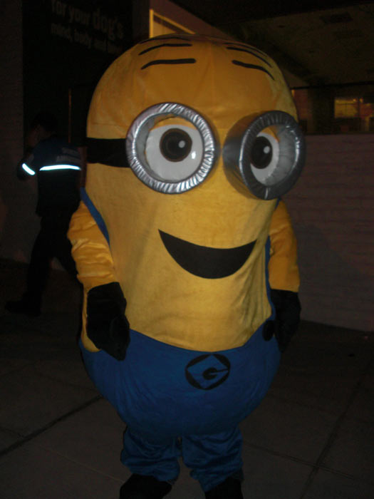 "<div class=""meta ""><span class=""caption-text "">A person dressed up as a minion from 'Despicable Me' during the West Hollywood Halloween Costume Carnaval on Thursday, Oct. 31, 2013. (ABC7)</span></div>"