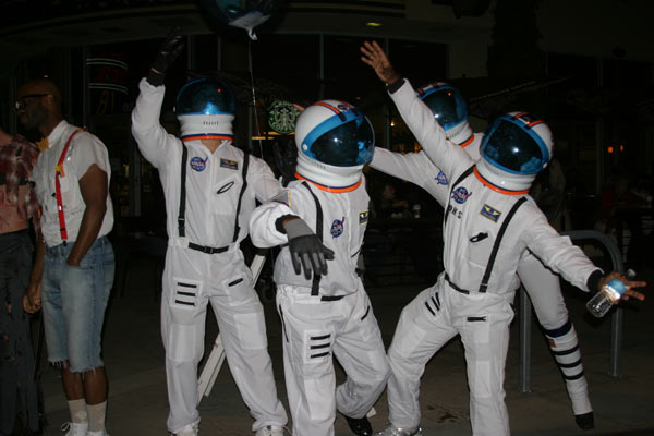 "<div class=""meta ""><span class=""caption-text "">A group of people dressed up as astronauts during the West Hollywood Halloween Costume Carnaval on Thursday, Oct. 31, 2013. (ABC7)</span></div>"