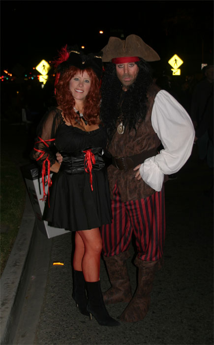 "<div class=""meta ""><span class=""caption-text "">Michelle and Larry Morris dressed up as pirates during the West Hollywood Halloween Costume Carnaval on Thursday, Oct. 31, 2013. (ABC7)</span></div>"