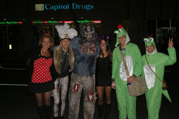 "<div class=""meta ""><span class=""caption-text "">Revelers stop to pose for a photo during the West Hollywood Halloween Costume Carnaval on Thursday, Oct. 31, 2013. (ABC7)</span></div>"