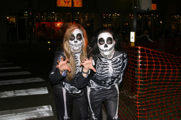 "<div class=""meta ""><span class=""caption-text "">Miroleta and Jasmin pose for a photo during the West Hollywood Halloween Costume Carnaval on Thursday, Oct. 31, 2013. (ABC7)</span></div>"