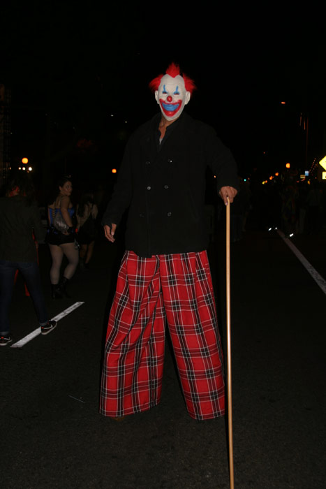 "<div class=""meta ""><span class=""caption-text "">Raul Hernandez dressed up as a clown during the West Hollywood Halloween Costume Carnaval on Thursday, Oct. 31, 2013. (ABC7)</span></div>"