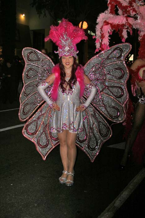 "<div class=""meta ""><span class=""caption-text "">Leah Lau dresses up as a butterfly during the West Hollywood Halloween Costume Carnaval on Thursday, Oct. 31, 2013. (ABC7)</span></div>"