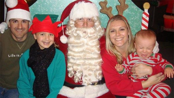ABC7 viewer Colleen O'Brien Amaro posted this awkward Santa photo to the ABC7 Facebook wall.