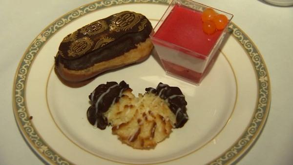 The most popular dessert is the Mickey Mouse macaroon.