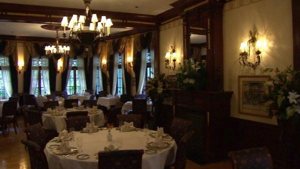 The Napoleon-style dining room is just as elegant today and filled with gourmet food.