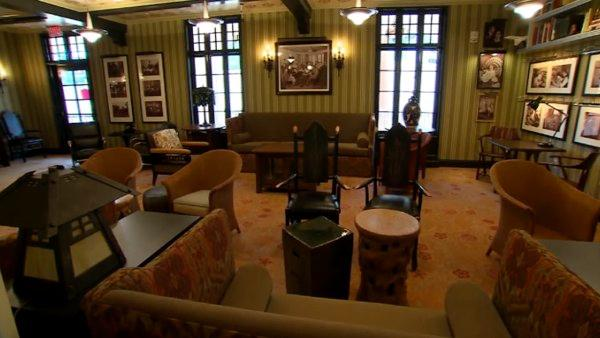 The upscale 1901 bar and lounge highlights plenty of Disney history.