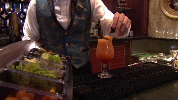 It's the only place at Disneyland serving alcohol. The most popular drink is fruit punch.