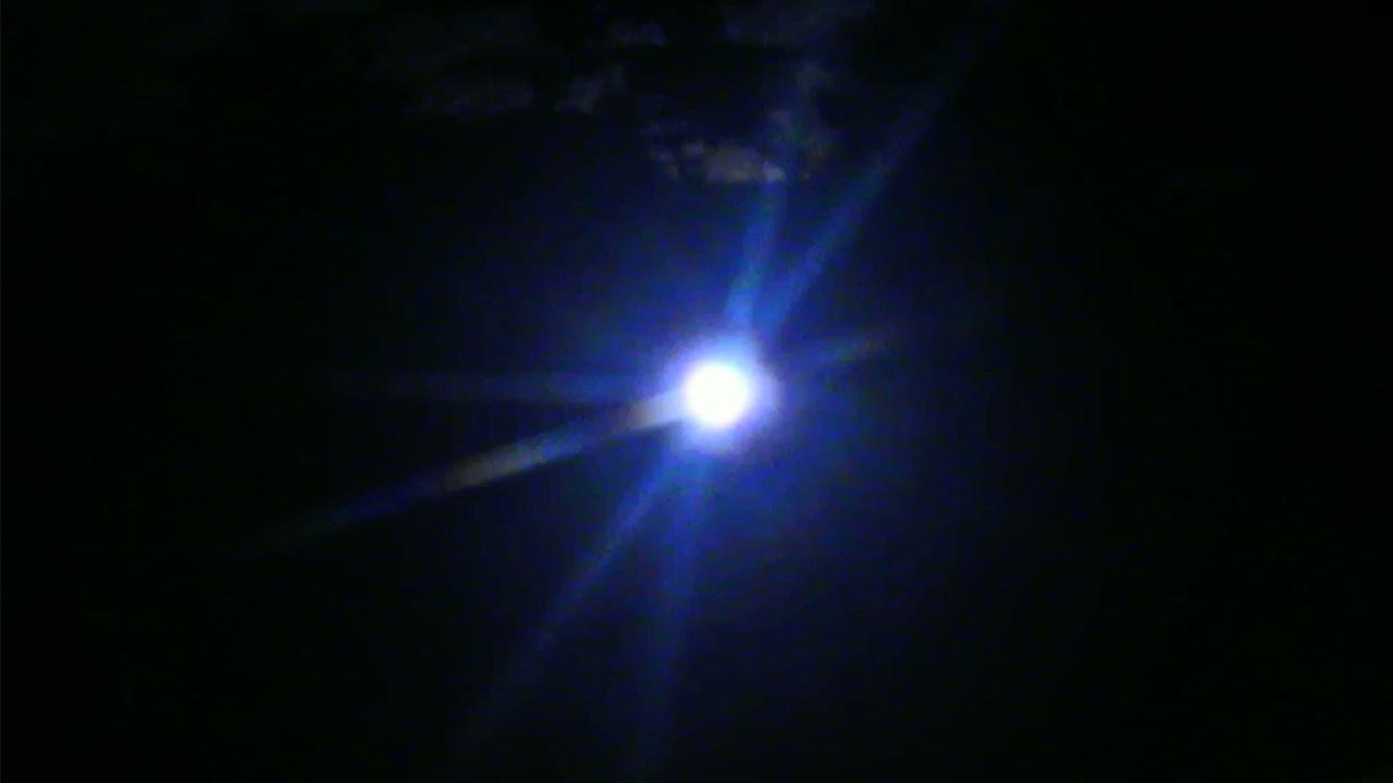 ABC7 viewer Sara Olguin sent us this photo of the blue moon in Los Angeles. <span class=meta>(ABC7 viewer Sara Olguin)</span>