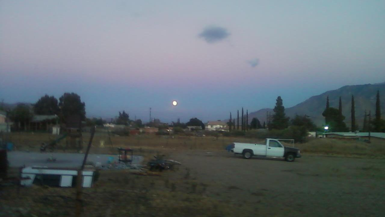 ABC7 viewer Kizzy Anderson James sent us this photo of the blue moon in Banning, Calif.ABC7 viewer Kizzy Anderson James