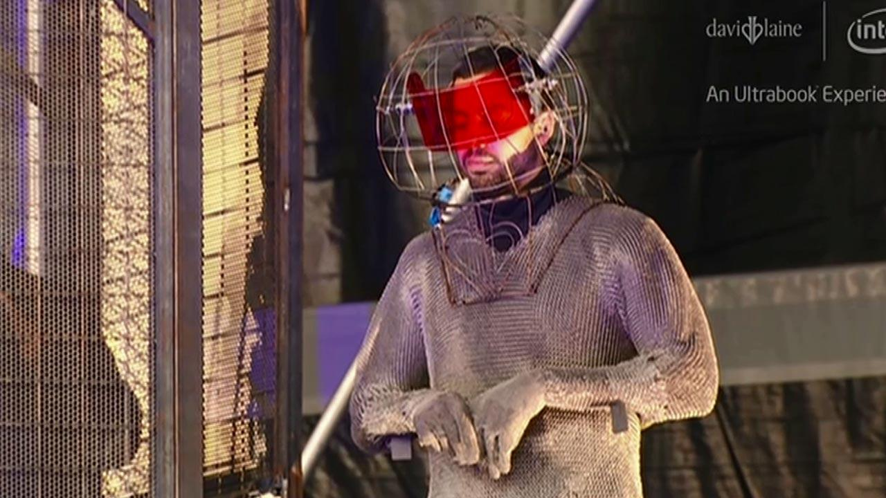 The 39-year-old daredevil will be standing on New Yorks Pier 54 in the middle of a million volts of electric currents for three days and three nights.