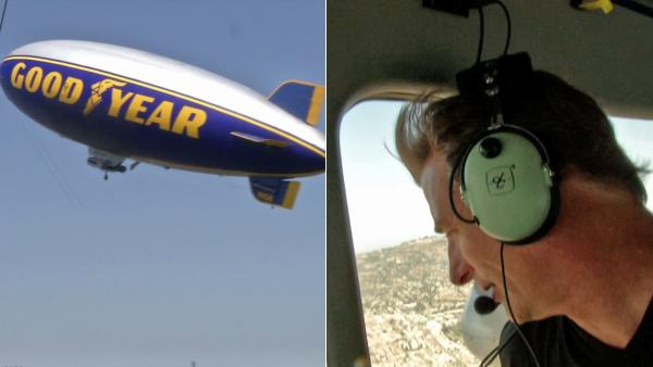 Goodyear Blimp - a rare view from high above