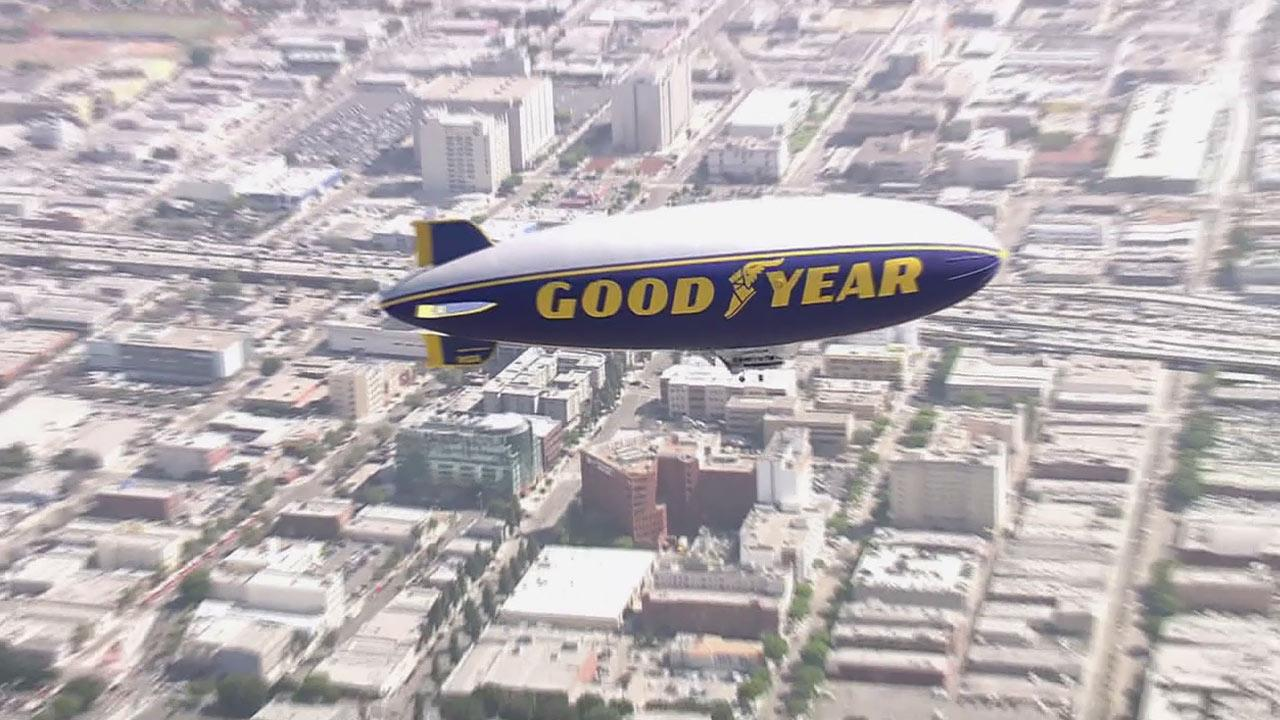 Goodyear began building blimps for the U.S. Navy in the 1930s. ABC7 anchor Phillip Palmer got a chance to ride the iconic blimp.