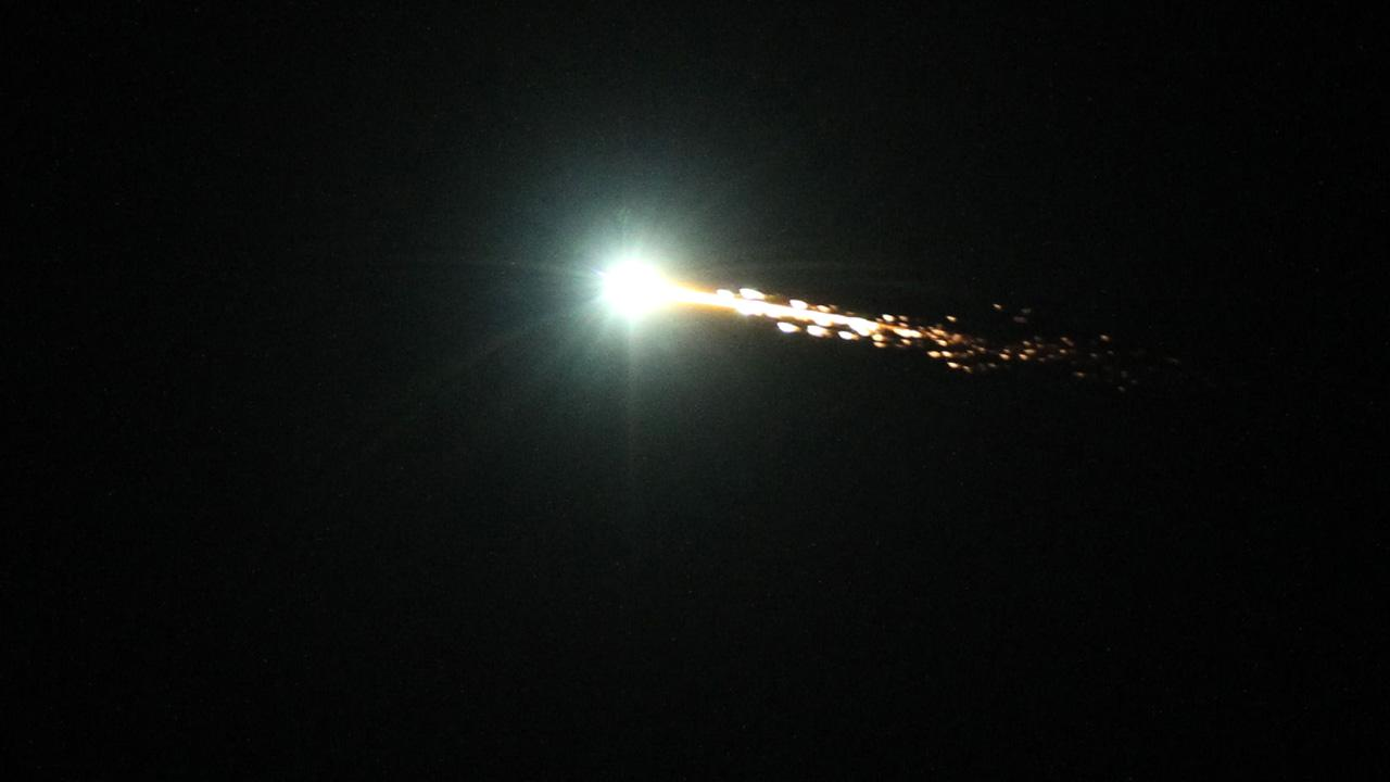 Bob Moreno of Santa Rosa took this photo of a giant fireball that lit up the sky and was seen from Los Angeles to the Bay Area on Wednesday, Oct. 17, 2012.Bob Moreno