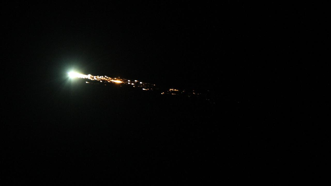 Bob Moreno of Santa Rosa took this photo of a giant fireball that lit up the sky and was seen from Los Angeles to the Bay Area on Wednesday, Oct. 17, 2012. <span class=meta>(Bob Moreno)</span>