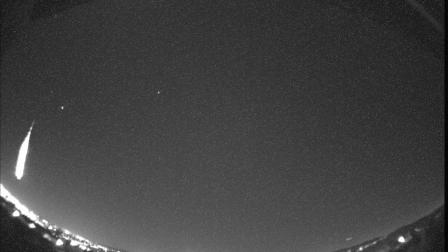 Eyewitness News viewer Simon Crask sent in a photo of a meteor on Thursday, Feb. 21, 2013. He snapped the picture in Anaheim with a low-light camera.