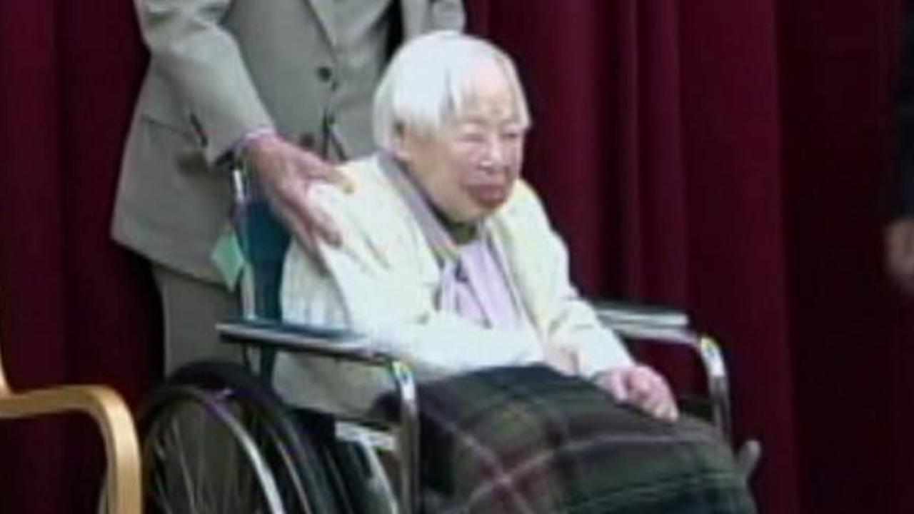 Misao Okawa, seen above in a file photo, was entered into the Guinness World Records as the worlds oldest woman.