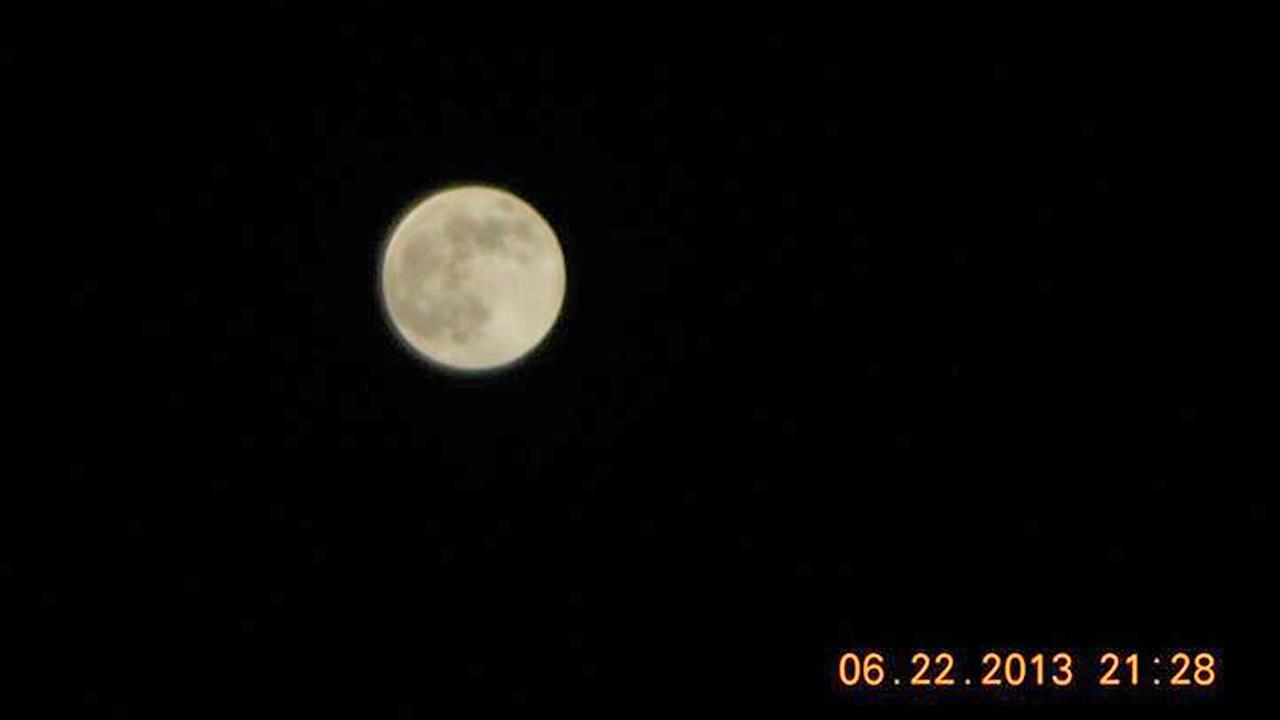 ABC7 viewer Lou Ross shared this picture of the supermoon on Saturday, June 22, 2013. <span class=meta>(Lou Ross)</span>
